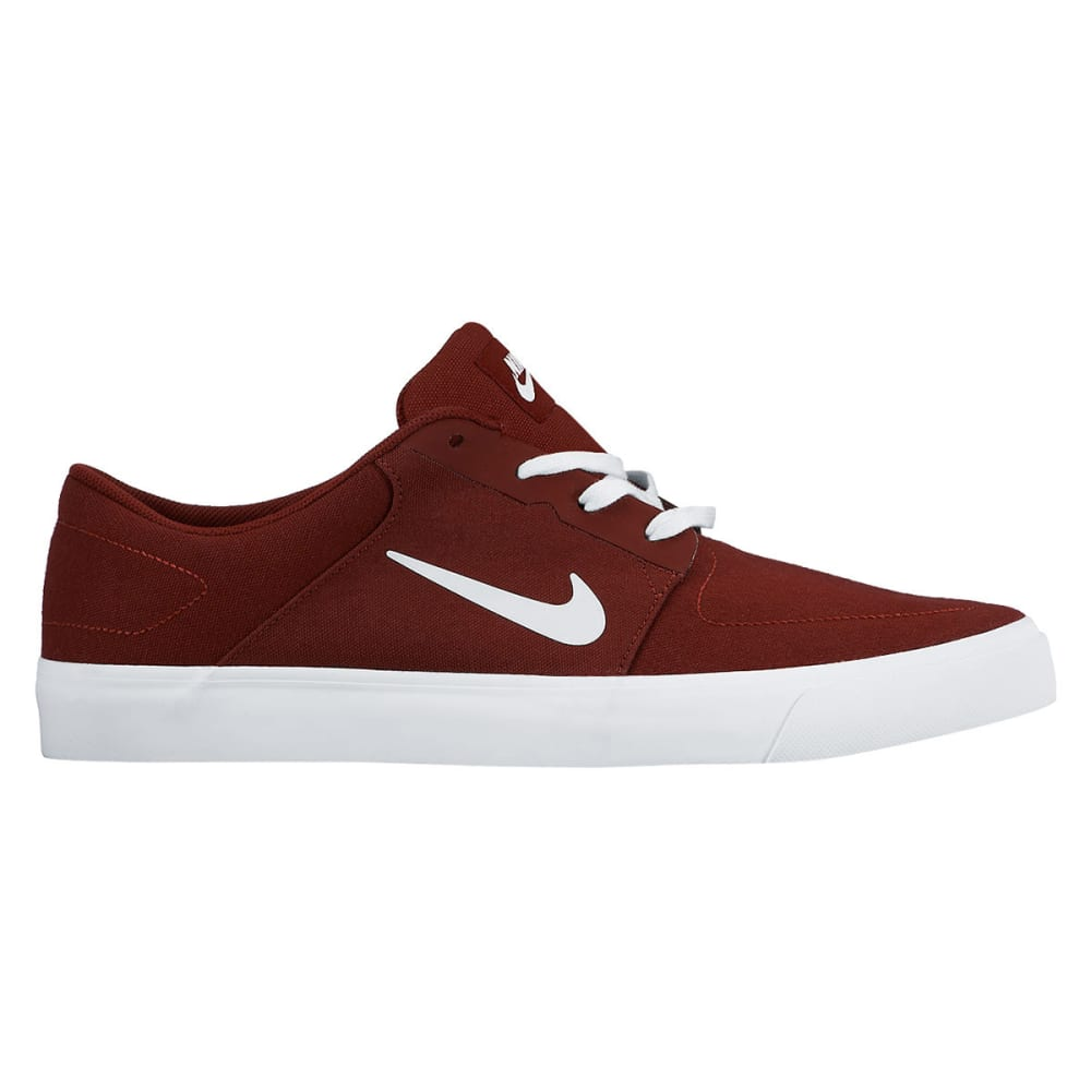NIKE SB Men's Portmore Canvas Skate Shoes - TEAM RED