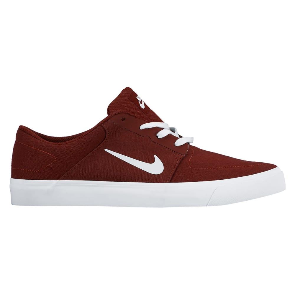 NIKE SB Men's Portmore Canvas Skate Shoes - TEAM RED