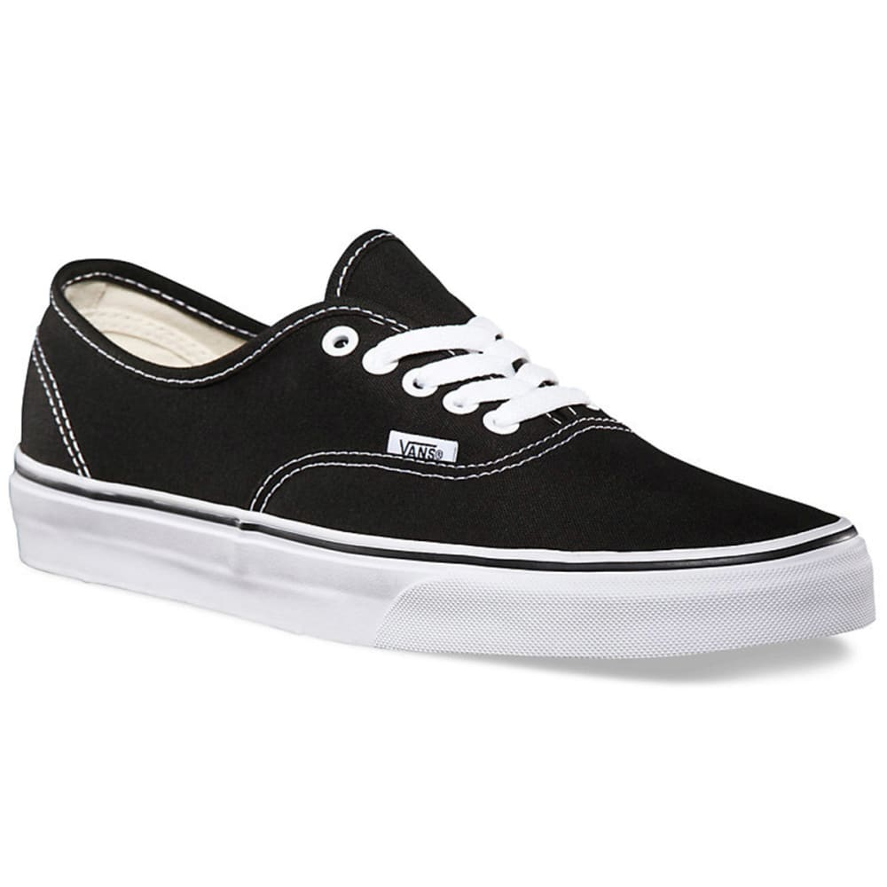 VANS Men's Authentic Shoes - BLK/WHT VN000E3BLK