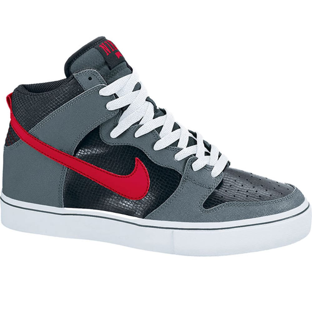 NIKE SB Young Men's Action Dunk Hi Shoes - SLATE