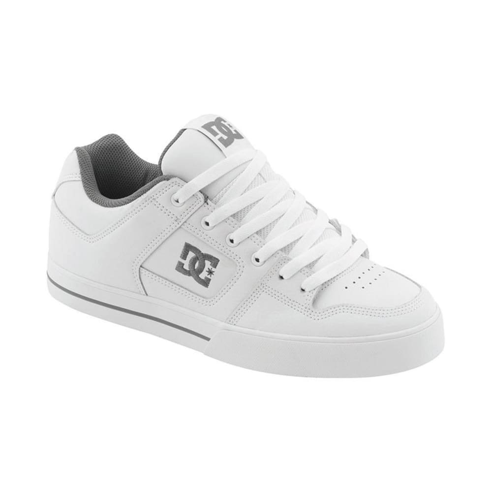 DC SHOES Young Men's Pure Skate Shoes - White, 8
