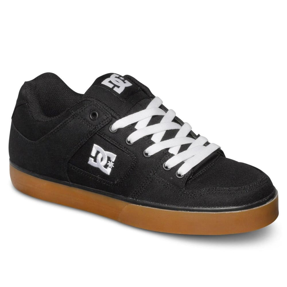 DC SHOES Men's Pure TX Skate Shoes - BLACK