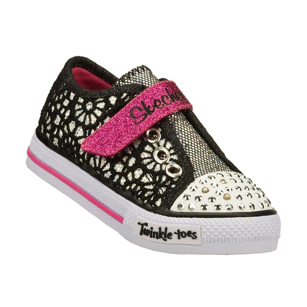SKECHERS Girls' Twinkle Toes: Shuffles - Spring Steps, 5-10 - BLACK/PINK