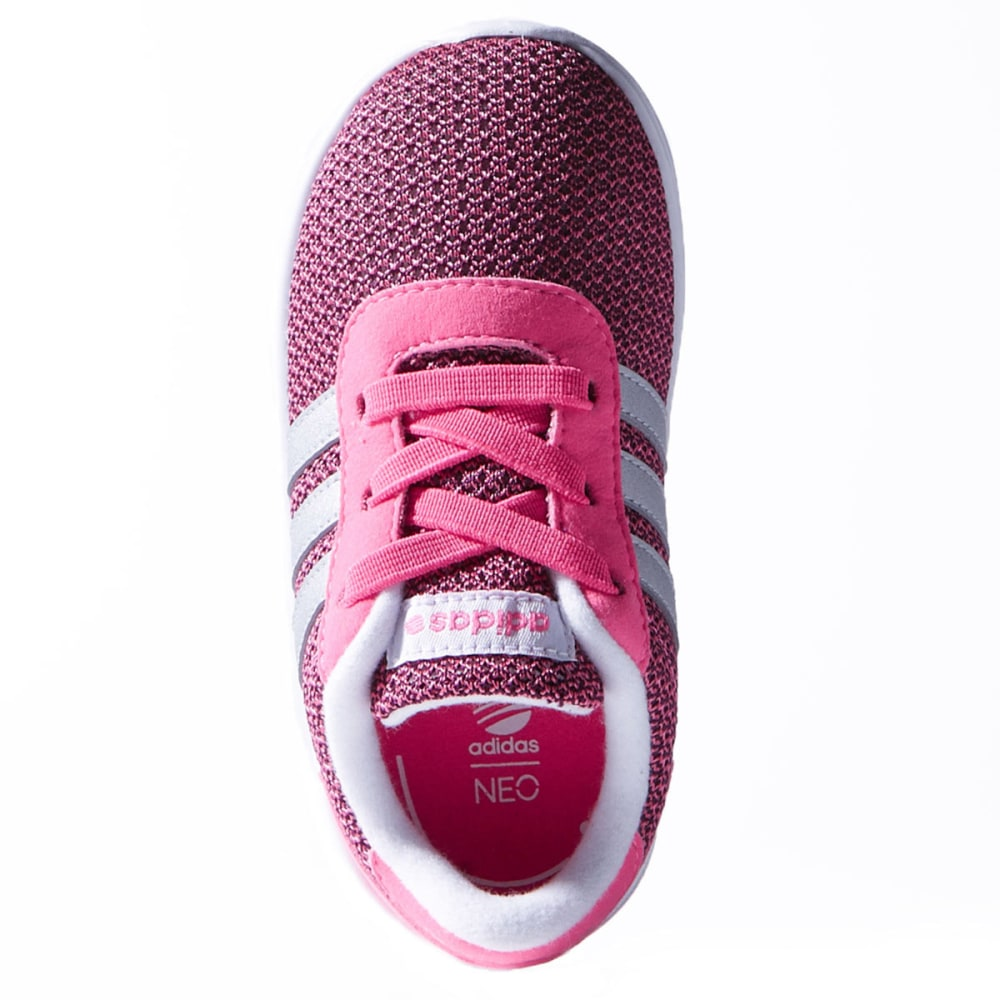 ADIDAS Infant Girls' Lite Racer Sneakers - SOLAR PINK/MATTE SIL