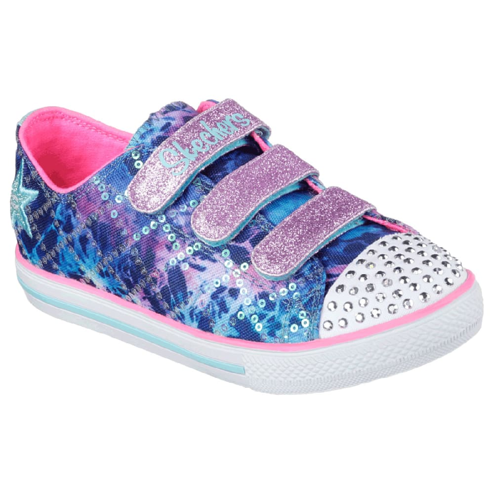 SKECHERS Girls' Twinkle Toes Shoes - BLACK - 10562L BLMT