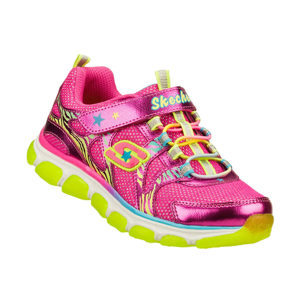 SKECHERS Girls' Dazzles Shoes, Hot Pink/Multi, 11-13, 1-3 - HOT PINK