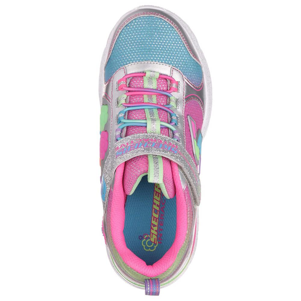 SKECHERS Girls' Game Kicks Sneakers - SILVER/MULTI