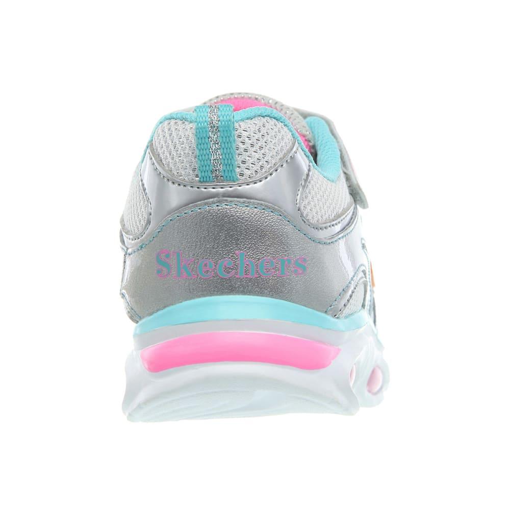 SKECHERS Girls' S Lights: Blissful Sneakers - SILVER