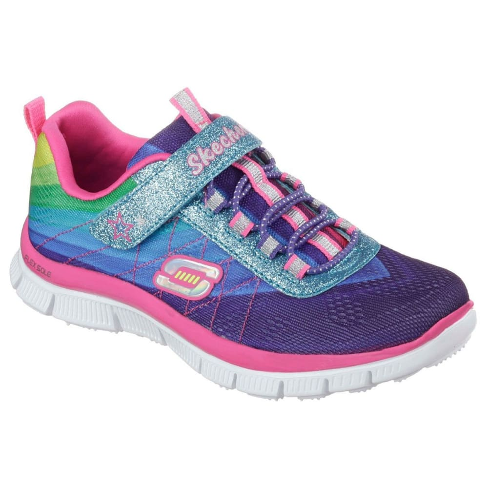 SKECHERS Girl's Flex Appeal: Pretty Please Sneakers - FRESH SALMON