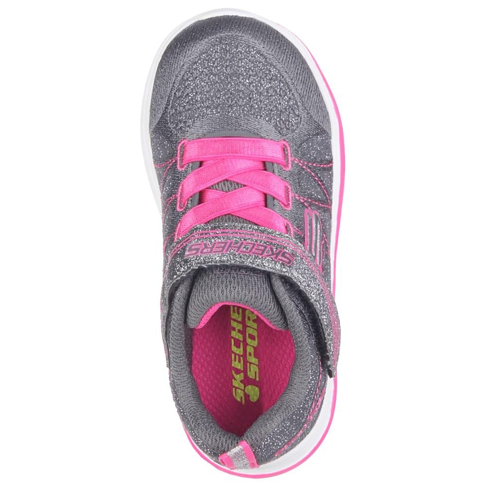 SKECHERS Girls' Swift Kicks Sneakers - CHARCOAL/PINK