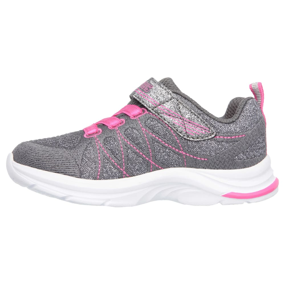 SKECHERS Girls' Swift Kicks Sneakers - CHARCOAL/PINK