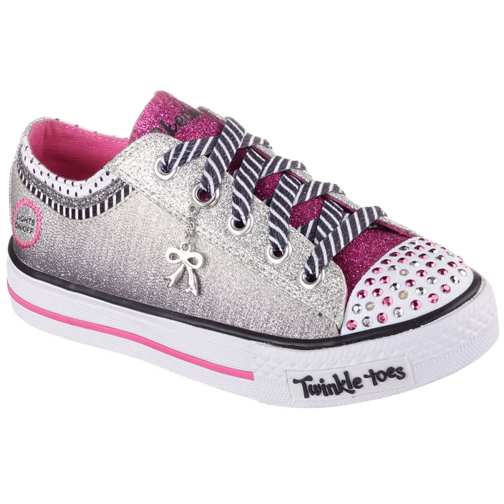 SKECHERS Girls' Twinkle Toes: Shuffles - Charmingly Chic Shoes - BLUE
