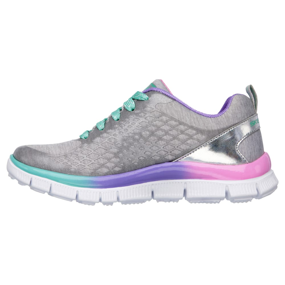 SKECHERS Girls' Skech Appeal Surprise n Shine Shoes - SILVER 11-3