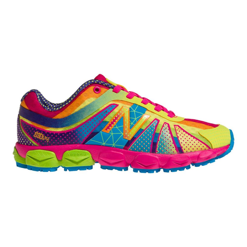 NEW BALANCE Girls KJ890 Rainbow Sneakers, 11-13,1-3 - RAINBOW