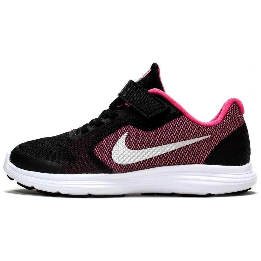NIKE Girls' Revolution 3 Running Shoes - BLACK