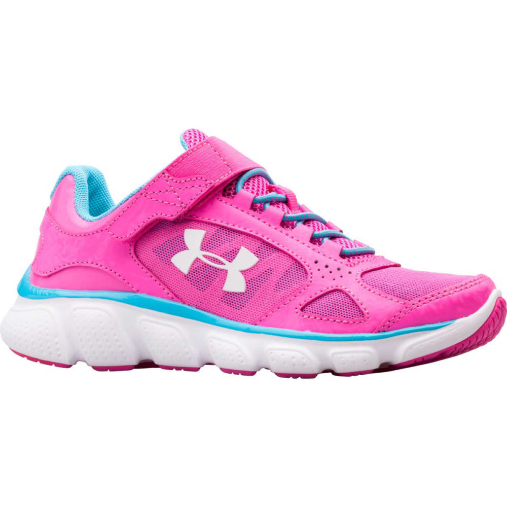 UNDER ARMOUR Girls' Assert V AC Sneakers - PINK/BLUE