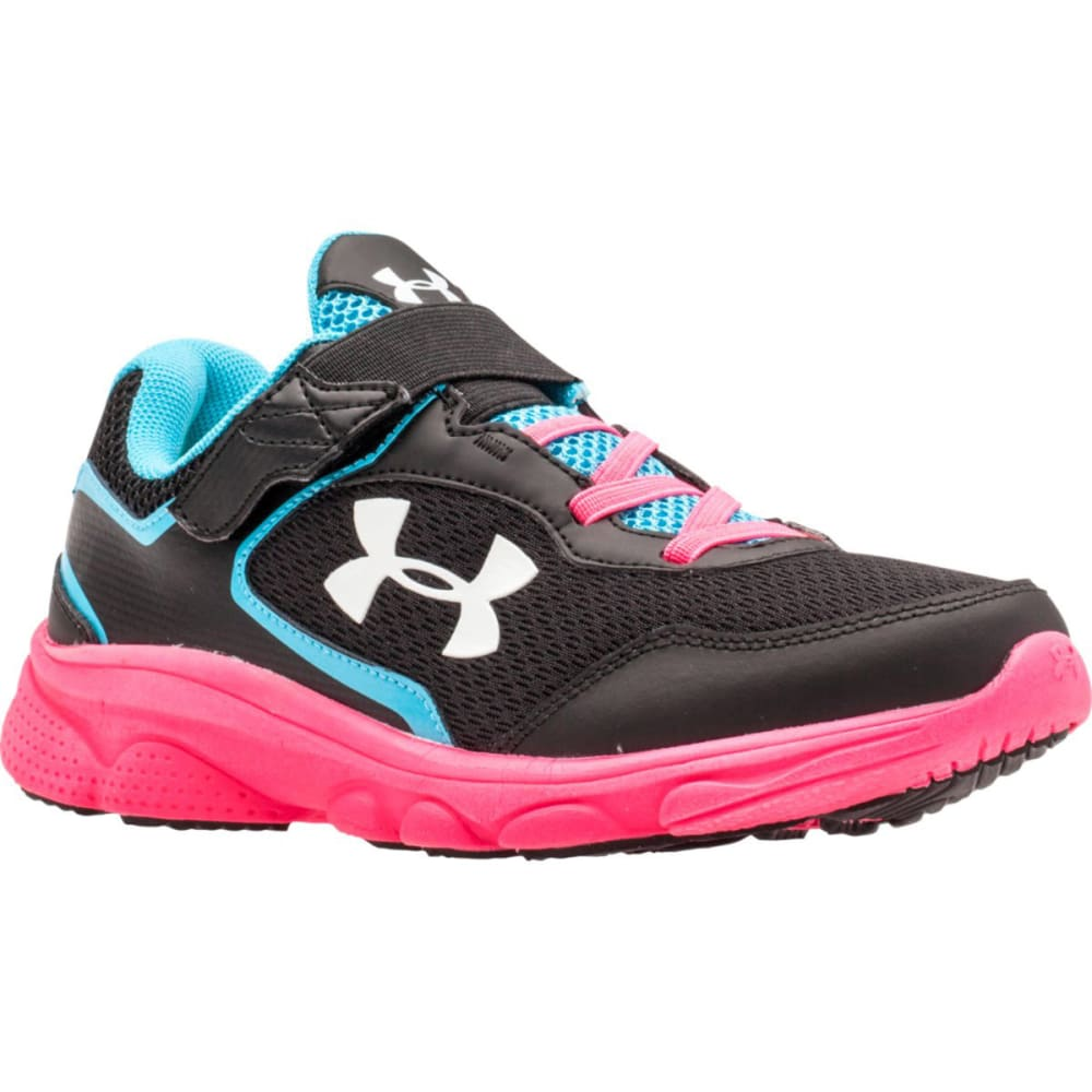 UNDER ARMOUR Girls' Escape Run AC Sneakers - BLACK/PINK
