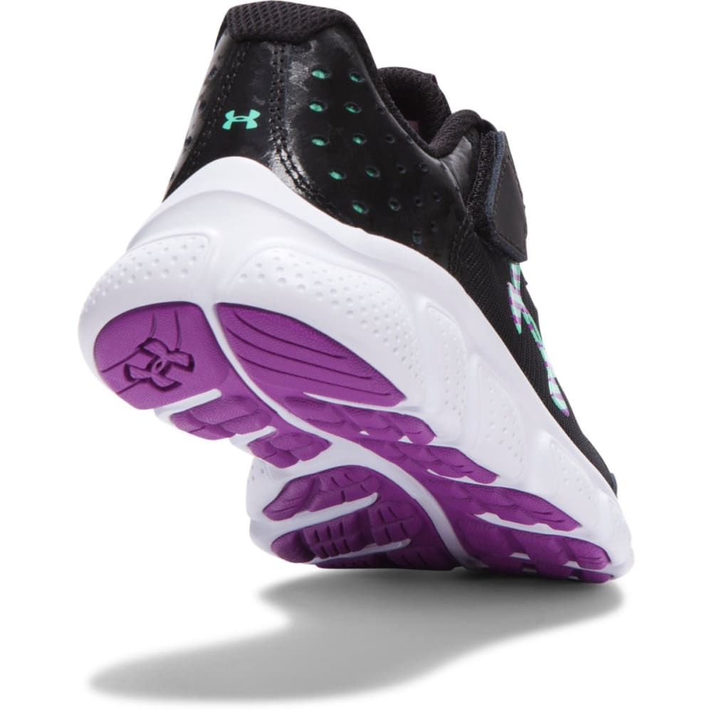 UNDER ARMOUR Little Girls' Micro G® Assert 6 - BLACK/MINT
