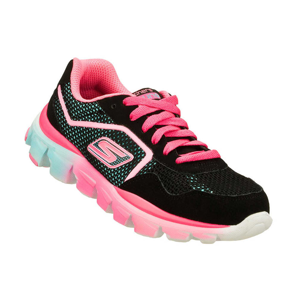 SKECHERS Girls' GOrun Ride Shoes, 3.5-4 - BLACK/MULTI