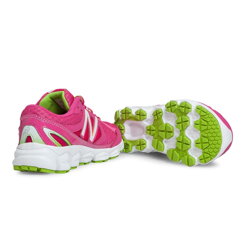 NEW BALANCE Girls' KJ750 Sneakers, 3.5-6 - MAGENTA