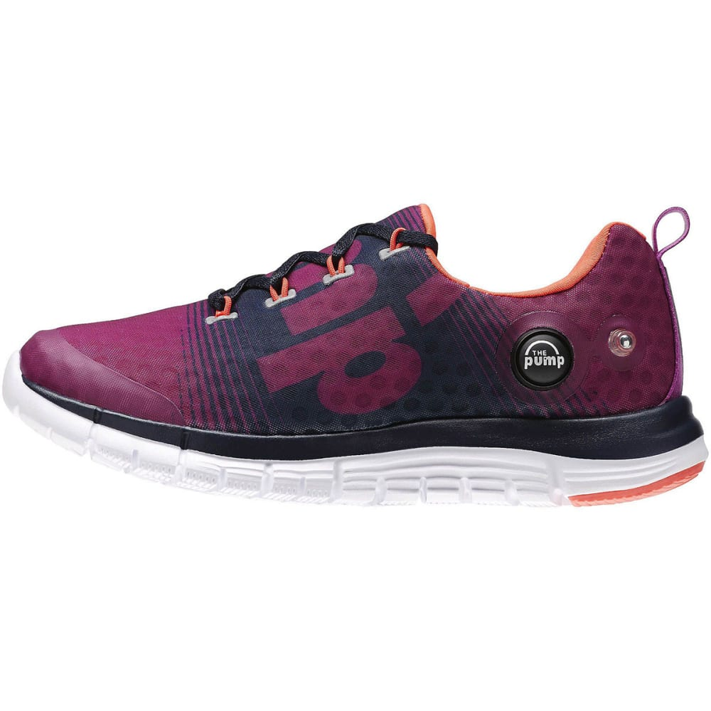 REEBOK Girls' ZPump Fusion Running Shoes - GEORGIA PEACH