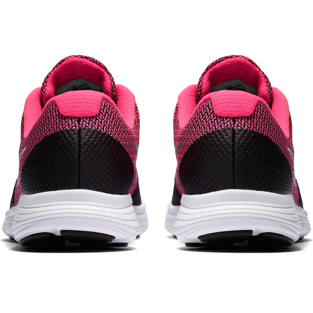 NIKE Girls' Revolution 3 Running Shoes - BLACK/HYPER PINK