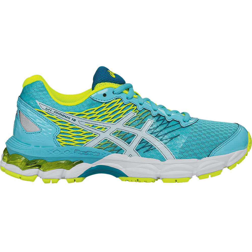 ASICS Girls' GEL-Nimbus 18 Running Shoes - TURQUISE/YELLOW