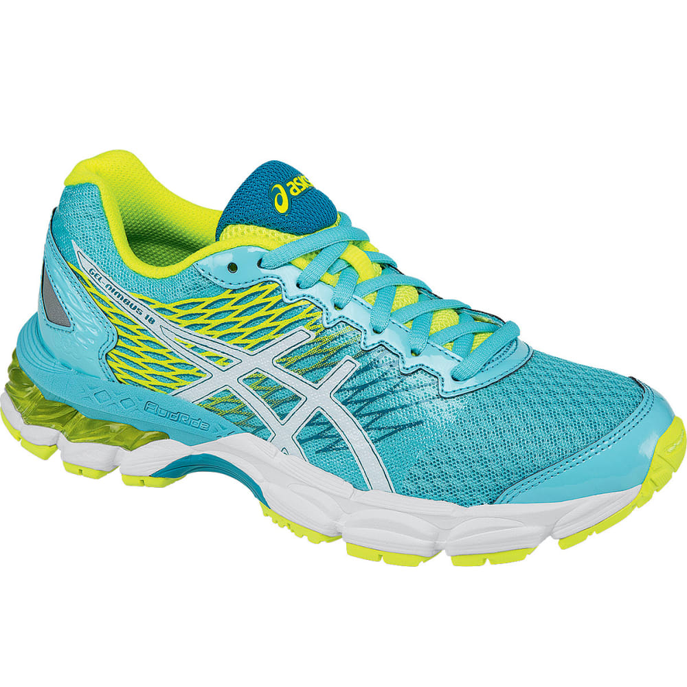 ASICS Girls' GEL-Nimbus 18 Running Shoes - TURQUISE/YELLOW