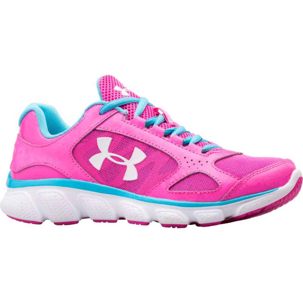 UNDER ARMOUR Girls' Grade School Assert V Sneakers - PINK/BLUE