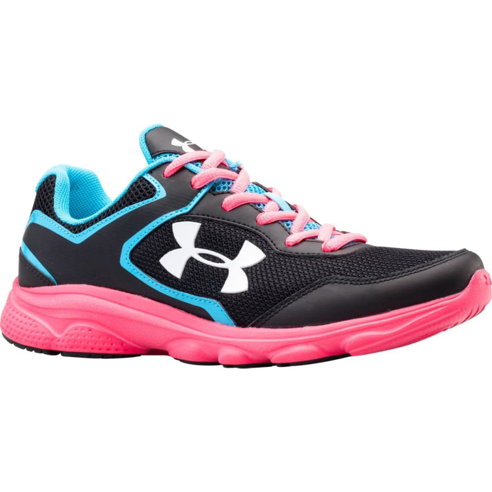 UNDER ARMOUR Girls' Escape Run Sneakers - BLACK/PINK