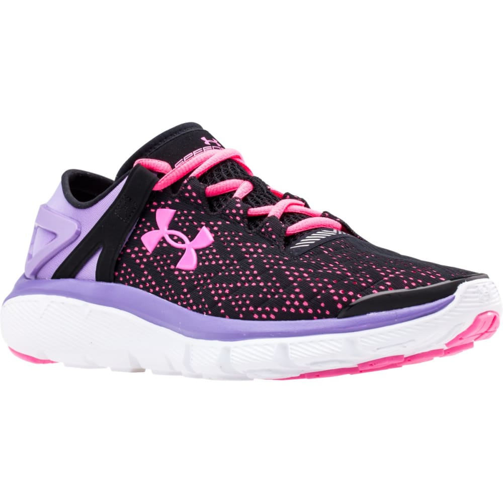UNDER ARMOUR Girls' SpeedForm® Fortis Running Shoes - STEALTH LINE METER