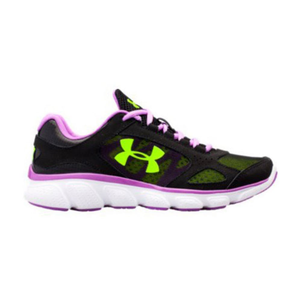 UNDER ARMOUR Girls' UA Grade School ASSERT V Running Shoe - BLACK