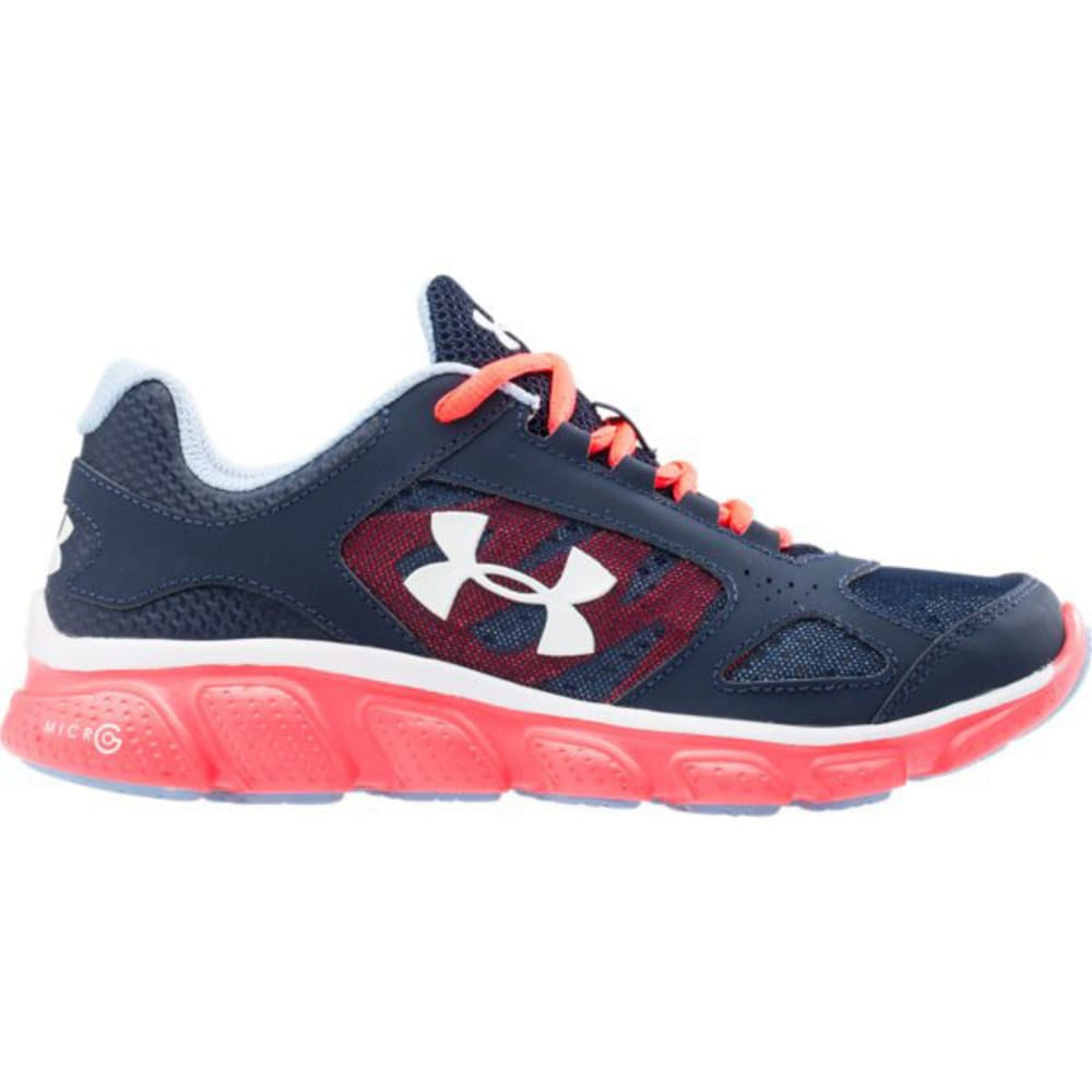 UNDER ARMOUR Girls' UA Grade School ASSERT V Running Shoe - ZAFFRE LINE METER