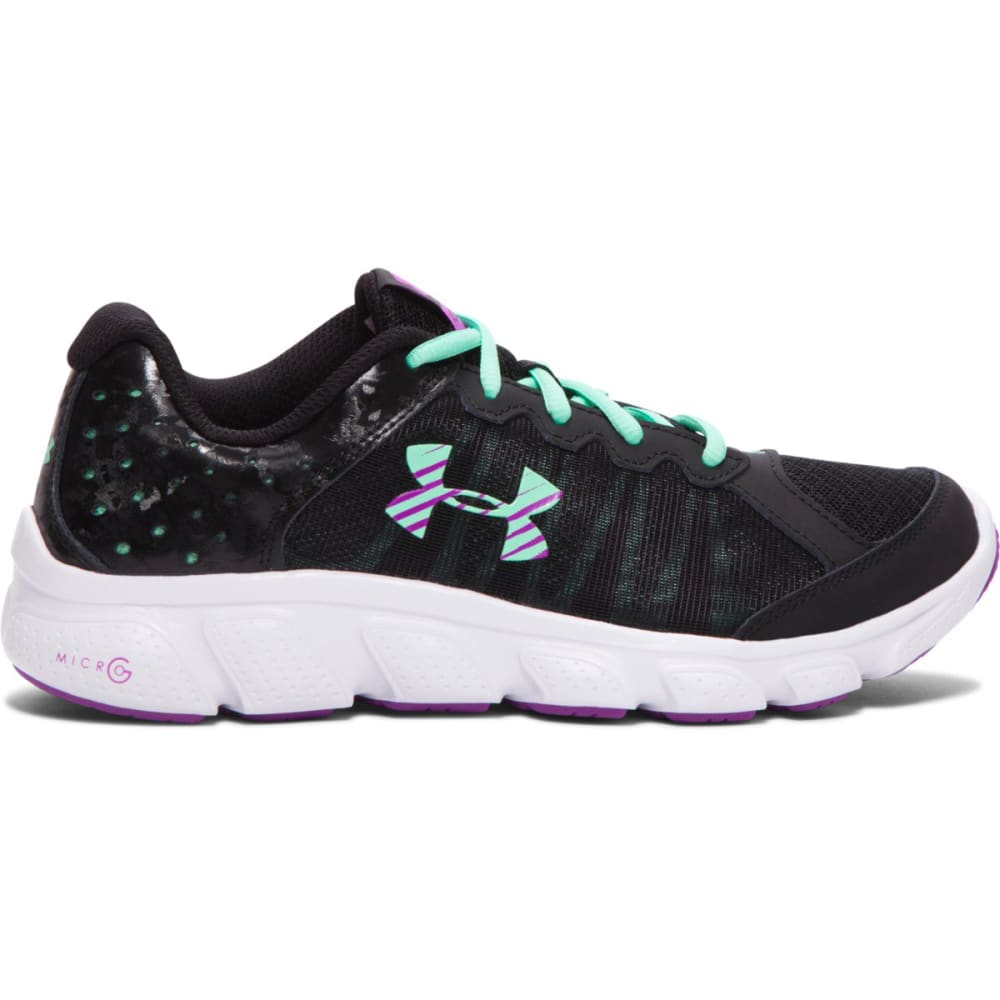 UNDER ARMOUR Big Girls' Micro G® Assert 6 - BLACK/MINT