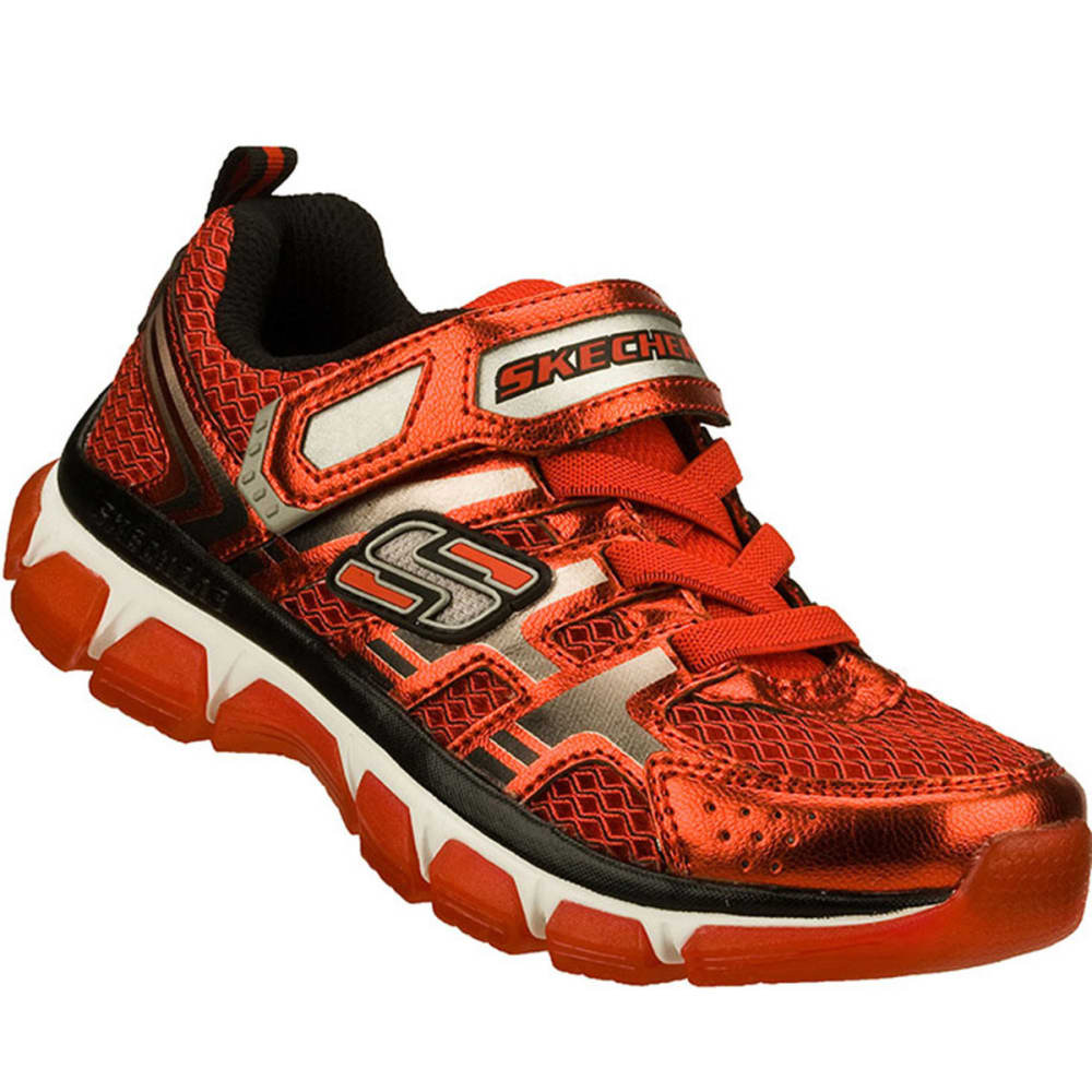 SKECHERS Boys' Xcellerator Shoes, 5-10 - RED/BLACK