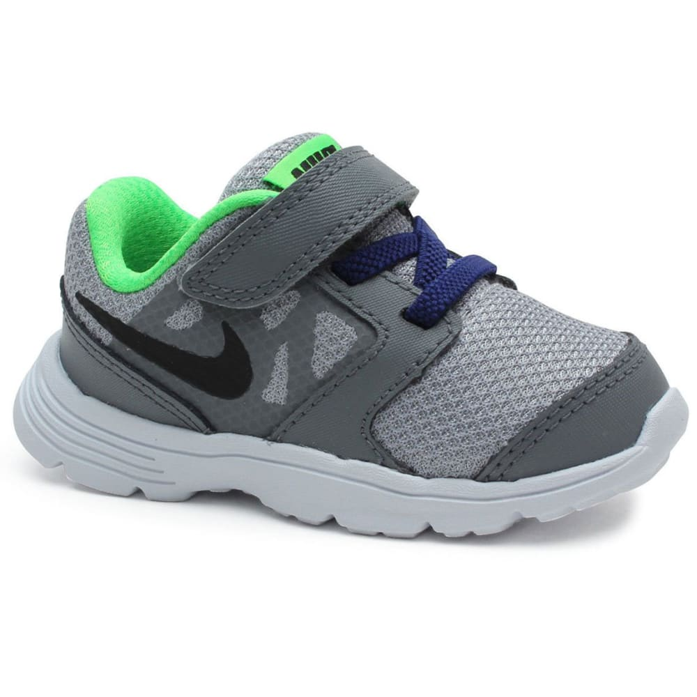 NIKE Toddler Boys' Downshifter 6 Running Shoes - GREY/ROYAL/WHITE-009