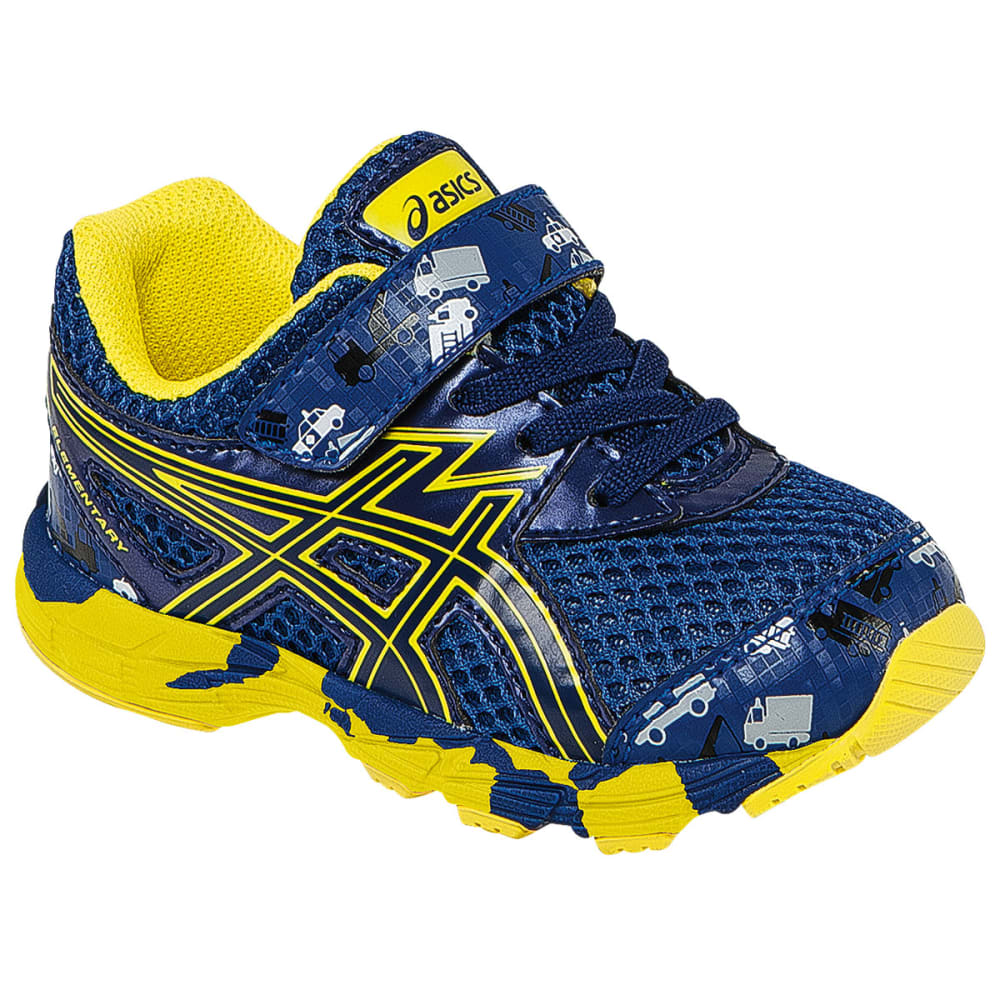 ASCIS Boys' Turbo TS Running Shoes - BLUE/FLASH YELLOW
