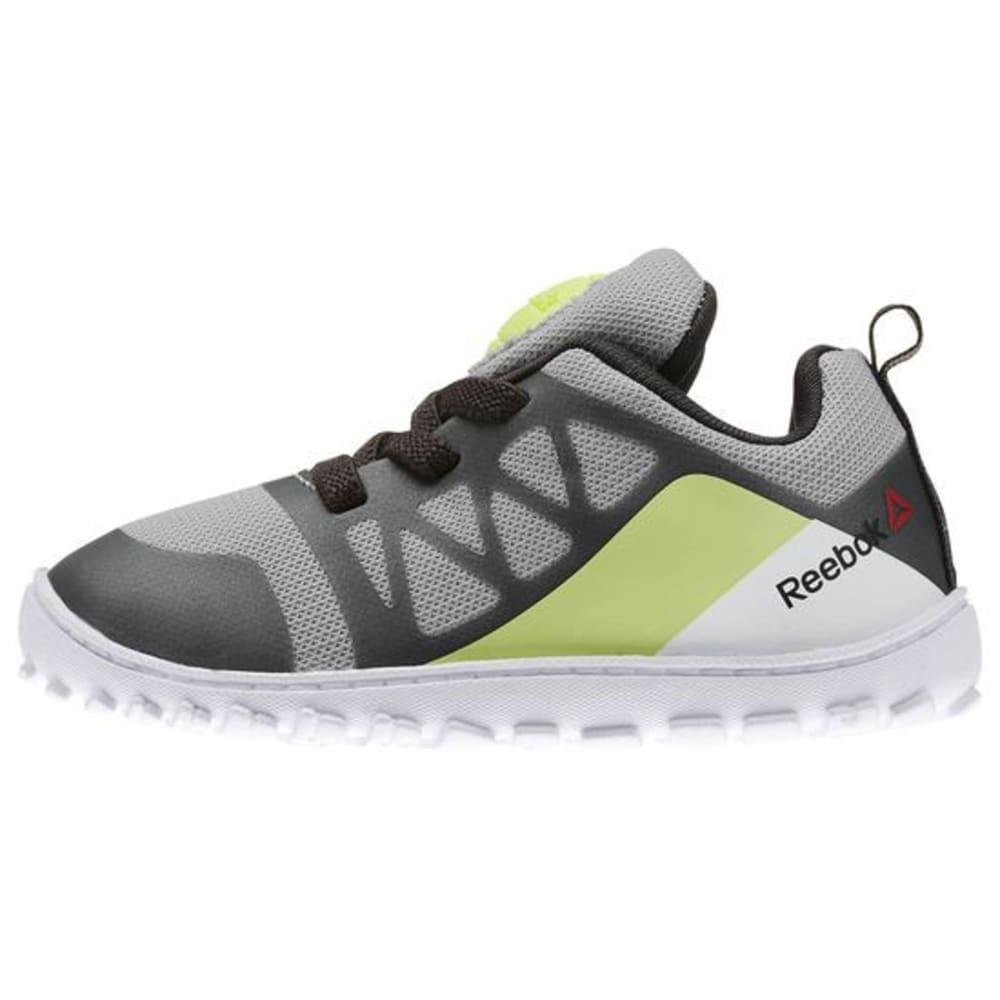 REEBOK Boys' ZPump Fusion 2.0 Shoes - WHITE/STEEL PRINT