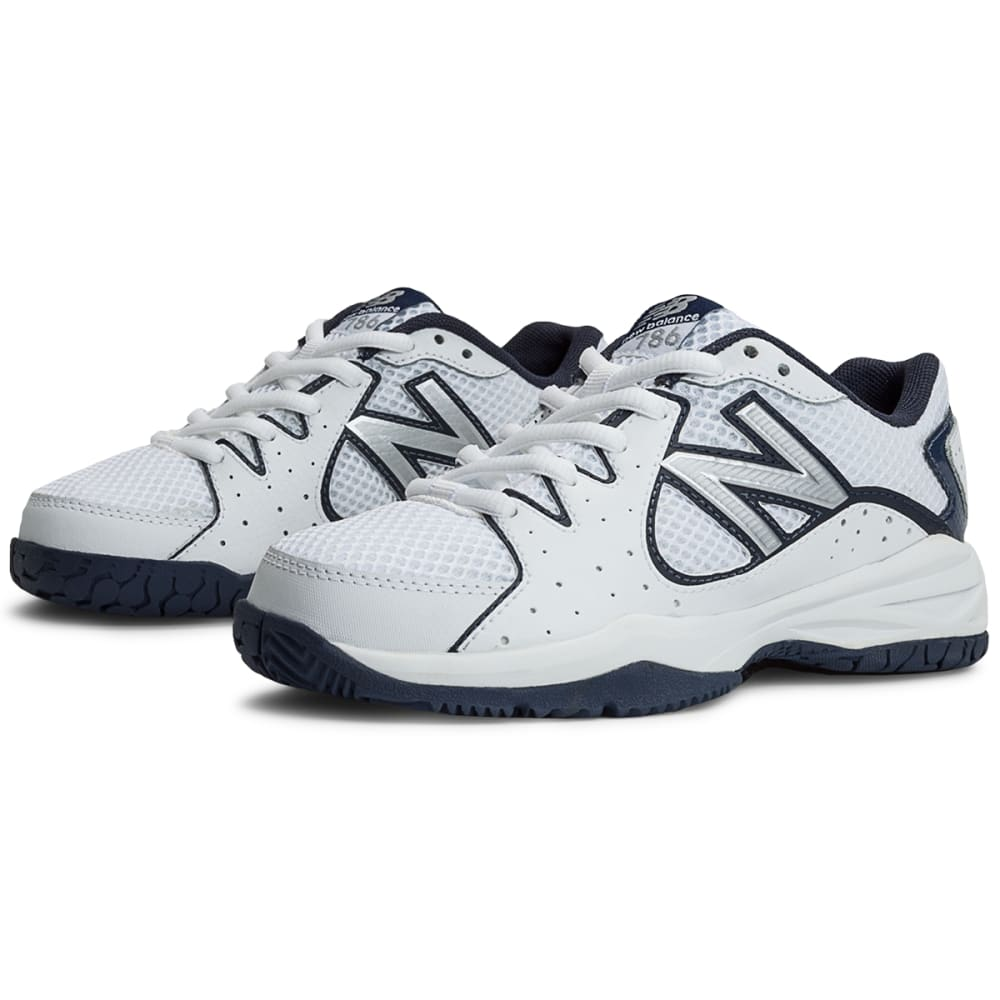 NEW BALANCE Boys' 786 Tennis Shoes - WHITE/NAVY