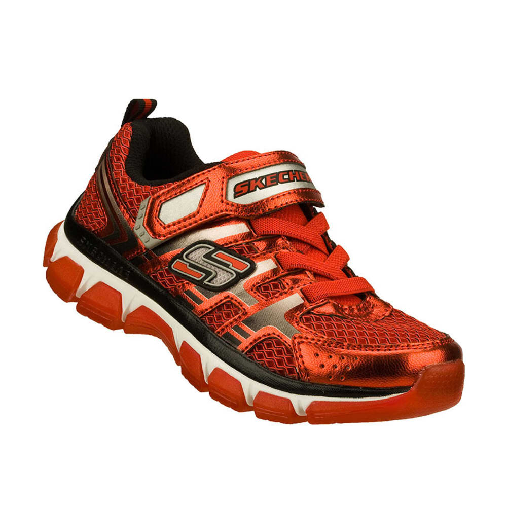 SKECHERS Boys' Xcellerator Shoes, 11-13, 1-3 - RED/BLACK