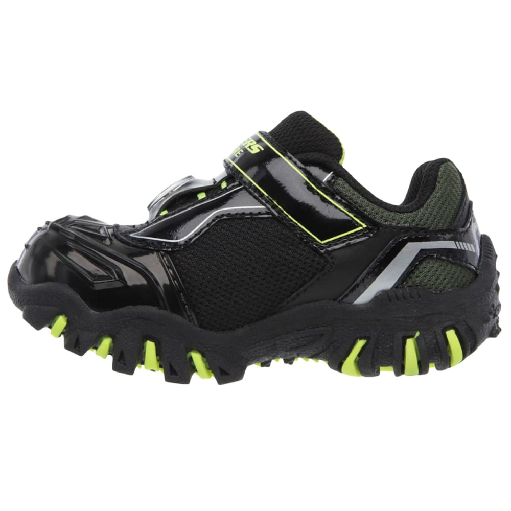 SKECHERS Boy's Hot Lights: Damager II- Adventurer Sneakers - STEALTH LINE METER