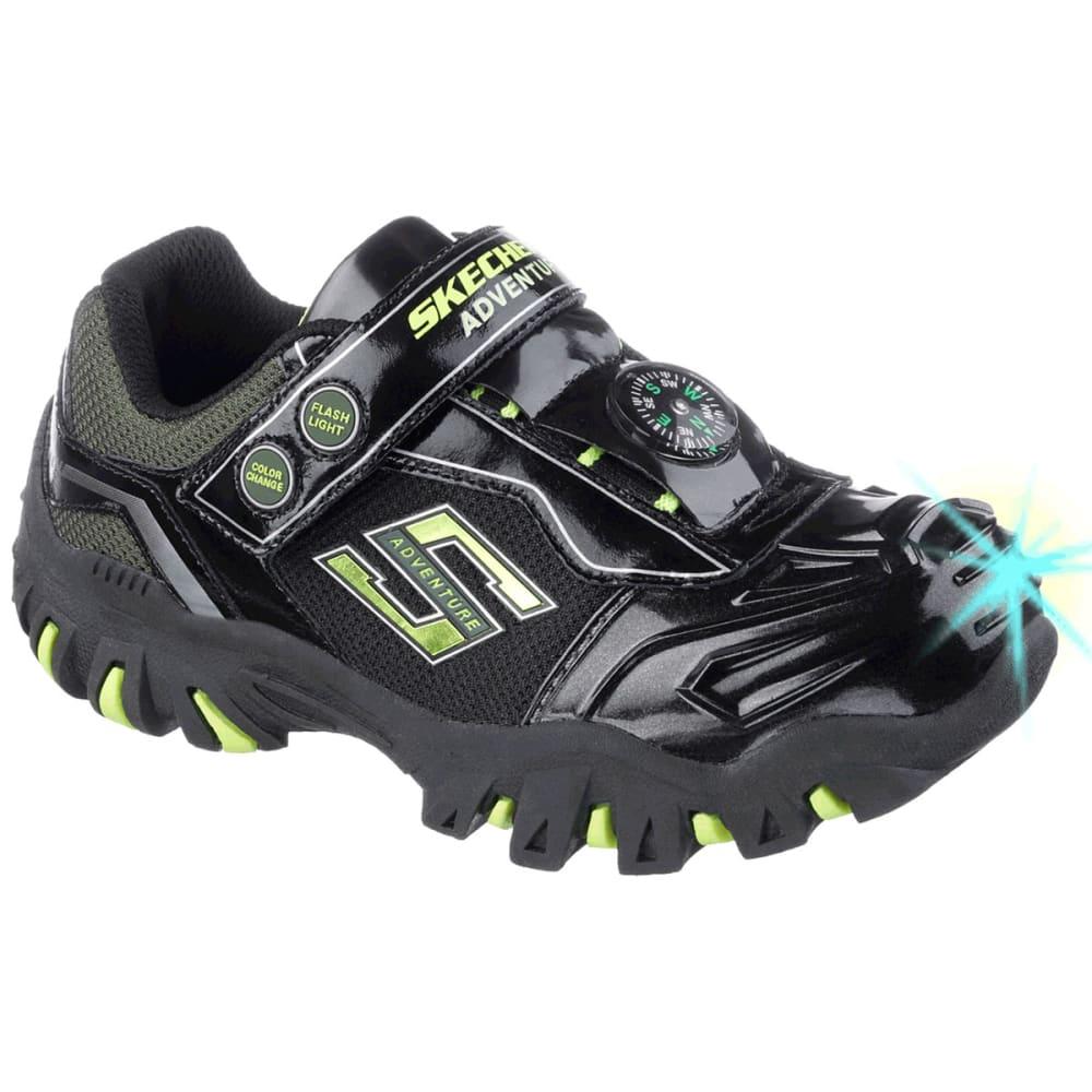SKECHERS Boy's Hot Lights: Damager II- Adventurer Sneakers - STEALTH LINE METER