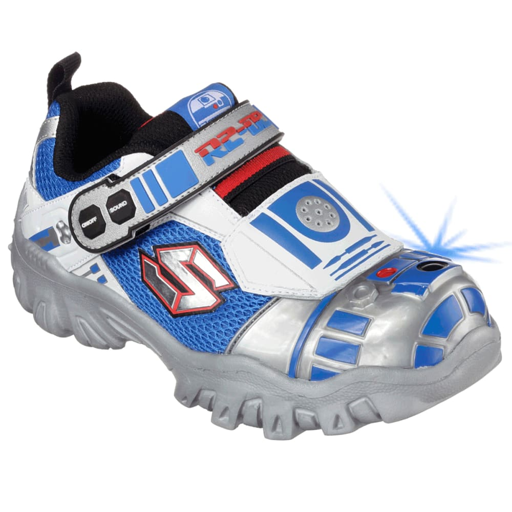 SKECHERS Boys' Star Wars: Damager III Astromech Sneakers - ASPHALT HEATHER