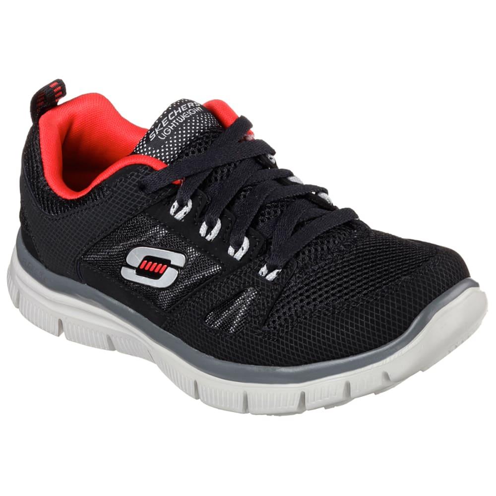 SKECHERS Boys' Flex Advantage Running Shoes - BLACK