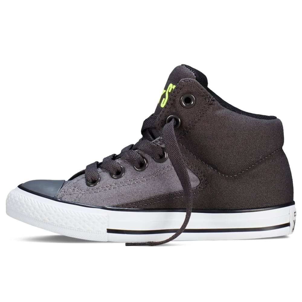 CONVERSE Boys' Chuck Taylor All Star High Street - CHARCOAL/BLACK