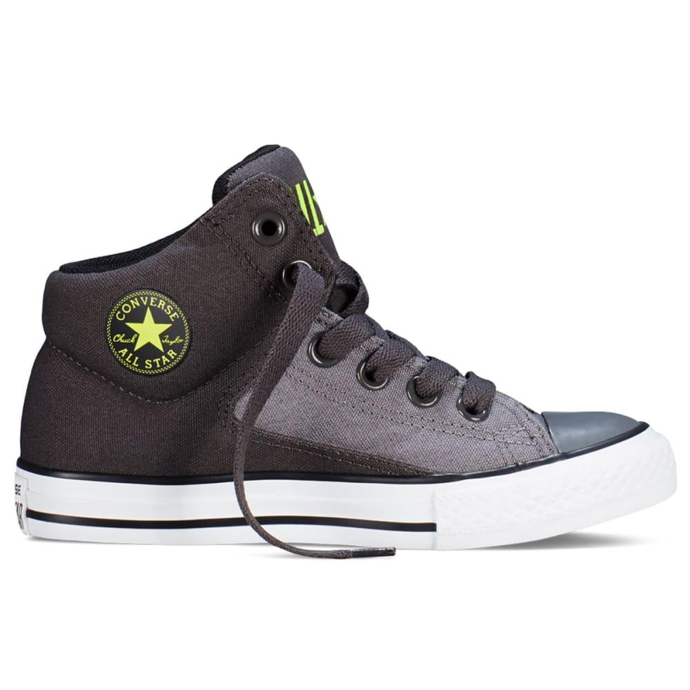 CONVERSE Boys' Chuck Taylor All Star High Street - CHARCOAL/BLACK