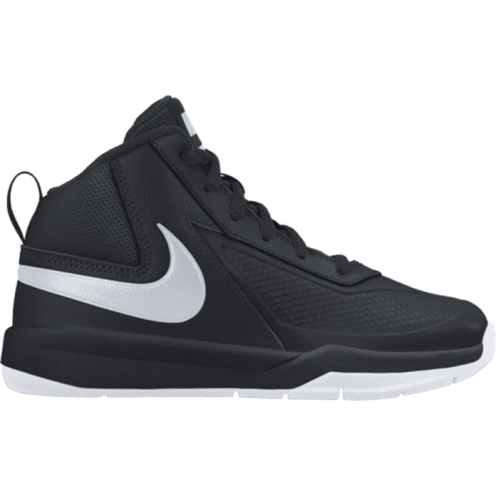 NIKE Boys' Team Hustle Basketball Shoes - BLACK -