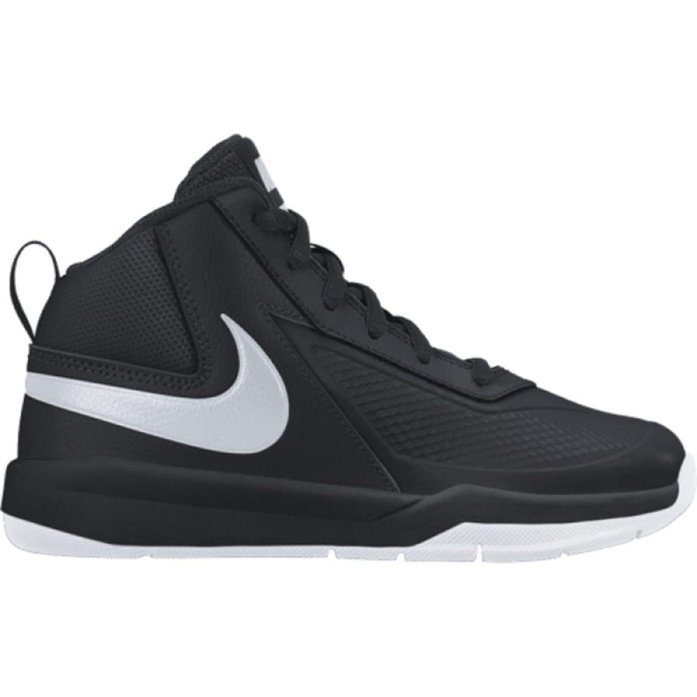 NIKE Boys' Team Hustle Basketball Shoes - BLACK -