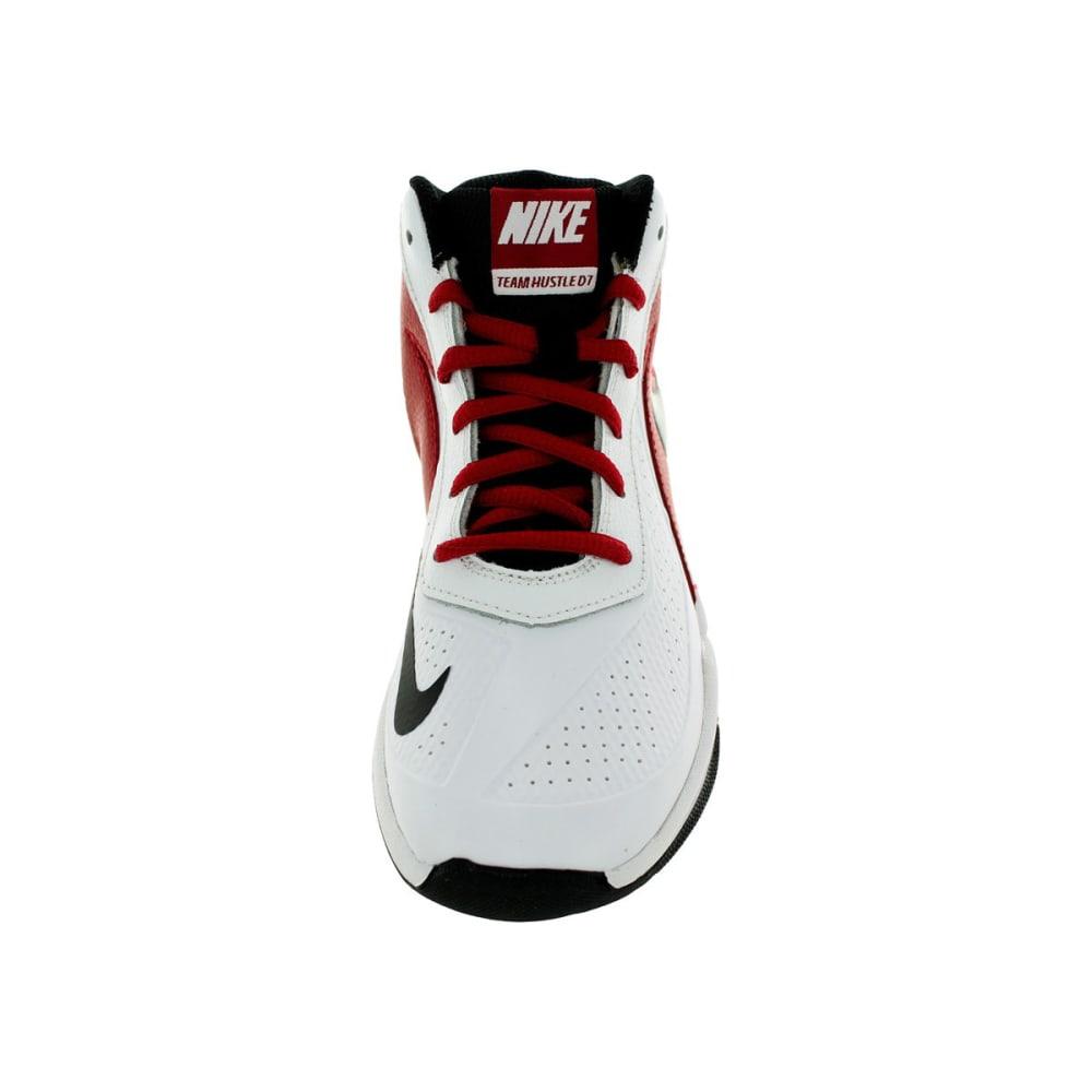 NIKE Boys' Team Hustle Basketball Shoes - WHITE/PERIWINKLE
