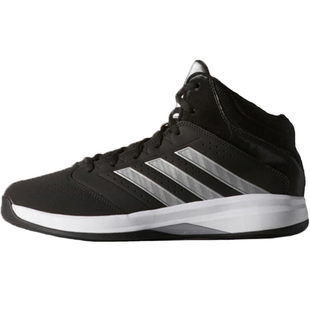 ADIDAS Boys' Isolation 2 Basketball Shoes, Wide - STEALTH LINE METER
